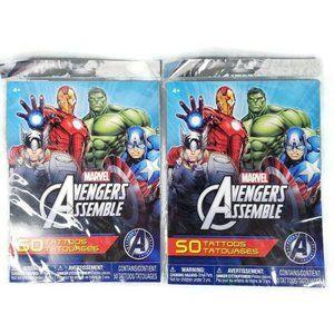 Marvel Avengers Assemble 100 Temporary Tattoos
